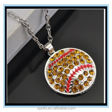 XP-MP-099324 FACTORY PRICE Rhinestone baseball pendant buy antique jewelry