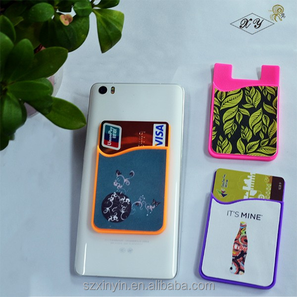 cell phone case card holder,silicone wallet smart phone card holder