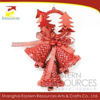 Plastic Xmas Decorative Bell for Hanging