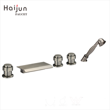 Haijun Hot Products NSF-61 Brass Bath Triple Handle 5 Holes Mixer Tap Faucet