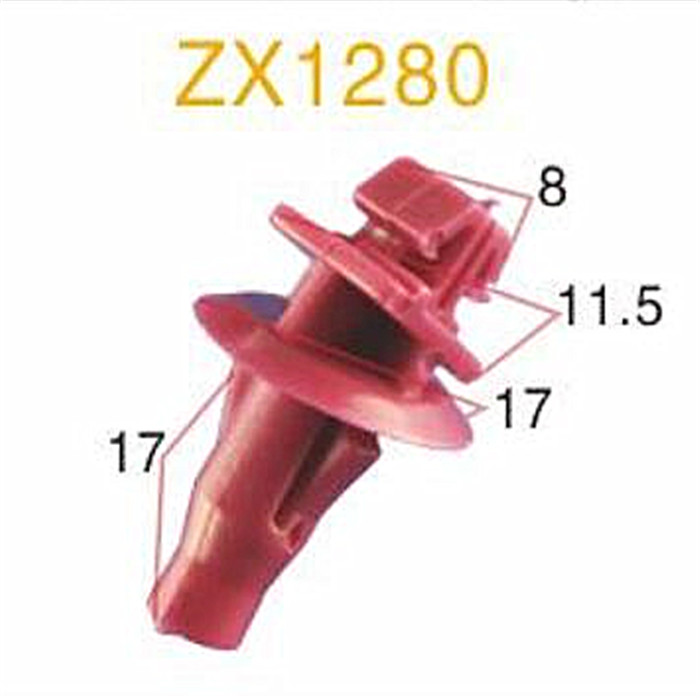 Full Size Auto Plastic Clips for Push-type Retainer/Auto Push-Type Rivet Fastener/Christmas Tree Push on Clip fastener