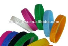 2012 custom logo printing silicone rubber bands