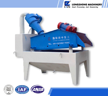 Double whirlcone sand extraction machine
