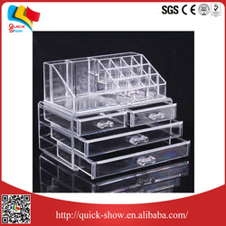 cosmetic makeup organizer with 3 tier acrylic display