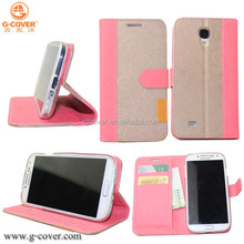 NEWS ! G-COVER case Hot selling pu leather case for samsung s4
