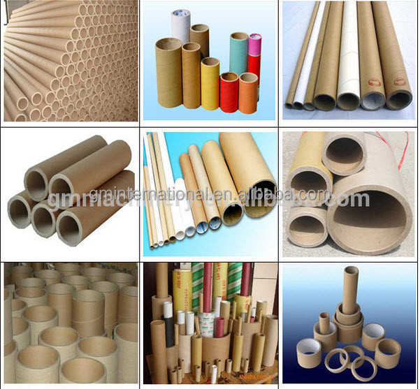 Automatic Kraft Cardboard carton Paper Rolls Core Paper Tube cutting Making Machine