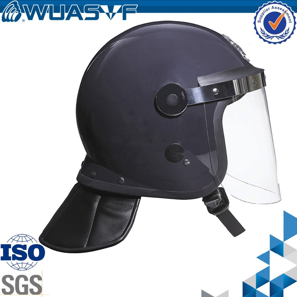 ABS Shell PC Material visor Water proof Anti riot police helmet with Neck guard