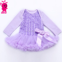 The new 2015 European and American girls lavender roses jumpsuits cake skirt The dress