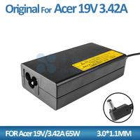 19V 3.42A 65W charger adapter for Acer 3.0*1.1mm pa-1650-86