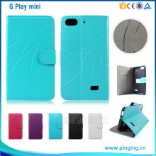 New arrival flip leather cover cell phone case for huawei G Play mini , case cover for huawei G Play mini