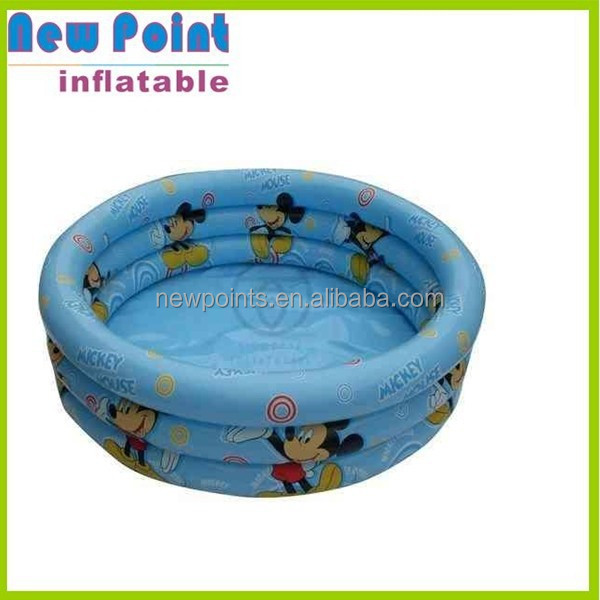 Mini blue cartoon inflatable round swimming pool toy for fun,inflatable kids pool,pool toys