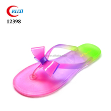 fashion sexy rainbow color ladies fancy sandal with bow
