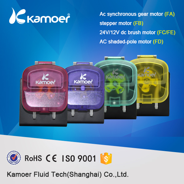 Kamoer KDS peristaltic AC220V laundry,washing pump 4motors,AC and DC can be selected