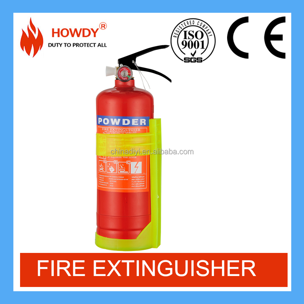 2KG DCP/ABC Car use fire extinguisher with ISO approval