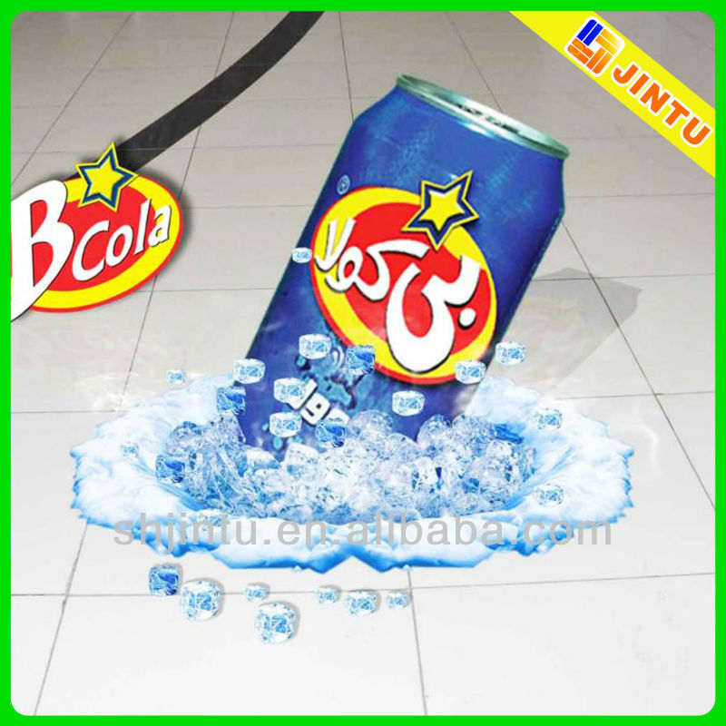 3d floor graphics, floor graphic sticker for advertising with digital printing