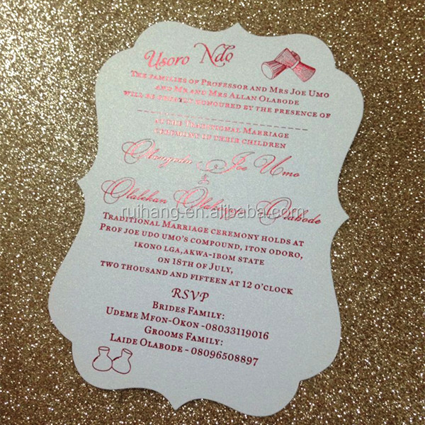 Rustic Hand Fan Wedding DIY Menu Program menu card