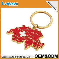 2015 promotional gifts switzerland custom metal keychain key ring