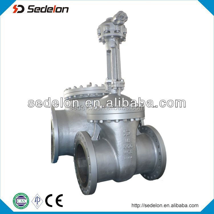 Rising spindle gate valve gear operate