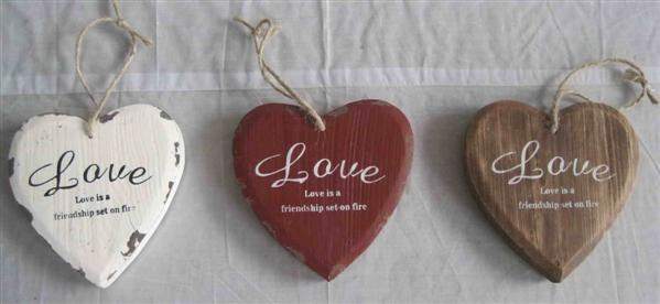 shabby chic Distressed Style Heart vintage wooden home decor
