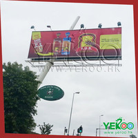 Powerful nice quality cheap hoarding design unipole billboard