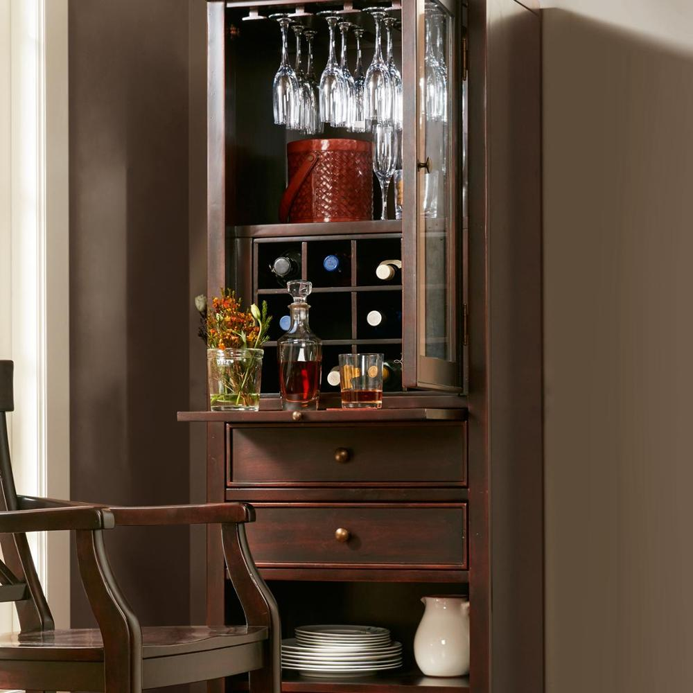 F40469A-1 Modern design dining furniture antique wood wine display cabinet