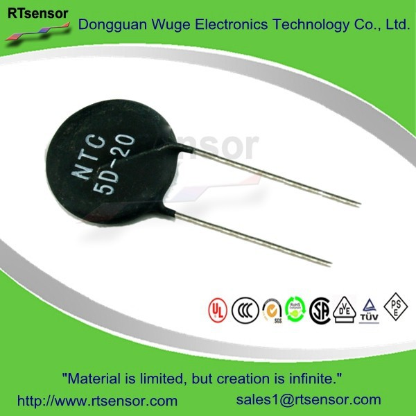 Sensing Inrush Current Limiter Circuit Protective Power Thermistors NTC 5D-20 5 Ohm 7Amp 20mm