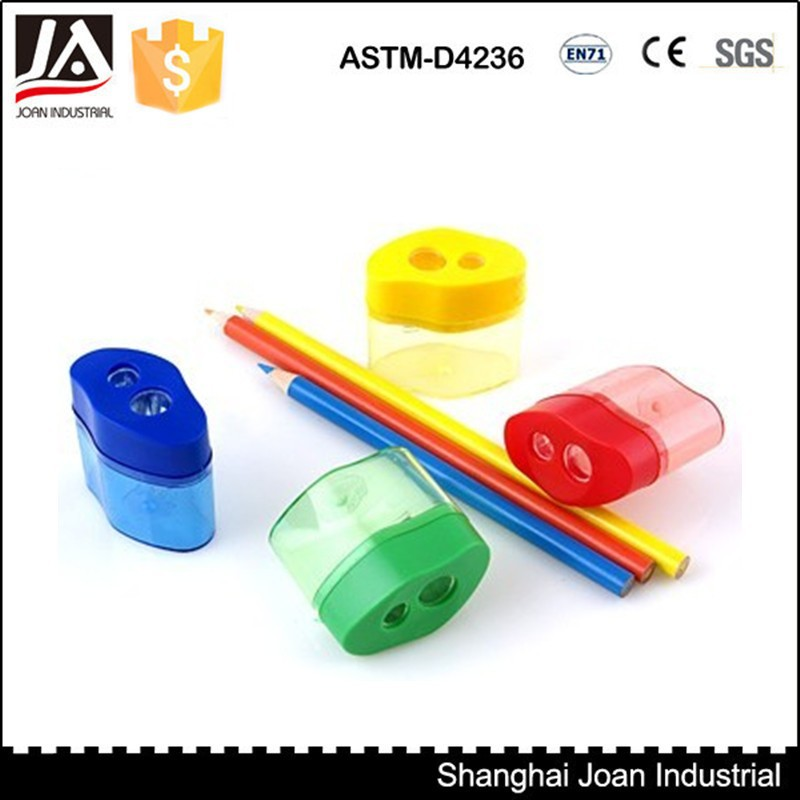double hole plastic cosmetic pencil sharpener