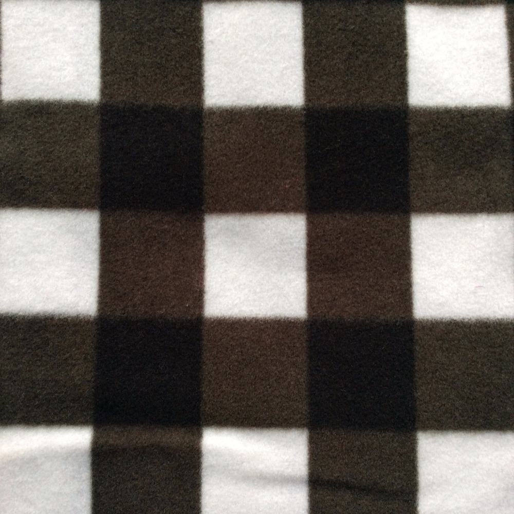 anti pilling fdy printed polar fleece yarn dyed plaid fabric