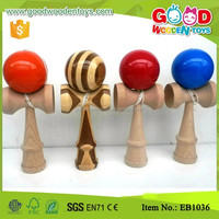 Wholesale Solid Color Wooden Toys Kids Kendama