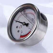 Specially designed Hot Sale High Quality clear to read stainless steel oil filled water biogas pressure gauge ytn-60
