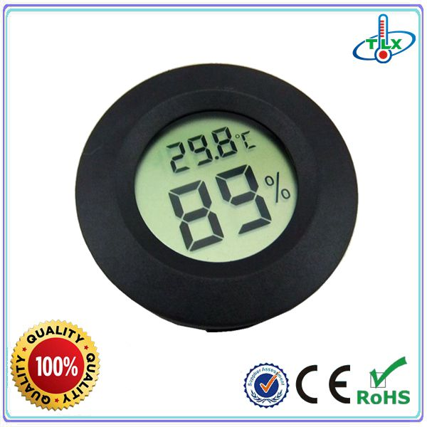 TL8048 Easy Insert Round Thermometer Hygrometer For cigar, reptile, pet room, guitar