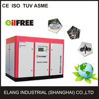 Screw Type and Stationary Configuration oil free air compressor