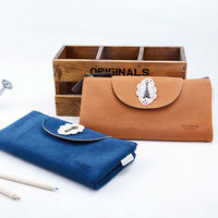 Languo new arrival leather pencil pouch/ pen bag for wholesale model:LGBL-2593