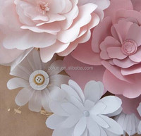 2015 delicate paper flower childrens party accessories/handmade paper flowers