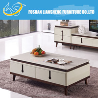 Tempered glass high glossy coffee table CH2014#