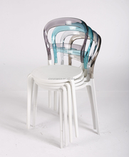 clear pc back pp seat stacking outdoor modern plastic chair
