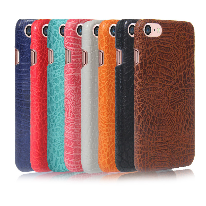 Cell phone cover Crocodile pattern Leather Cover + PC Ccase For Apple iphone 7 Mix Colors In stock