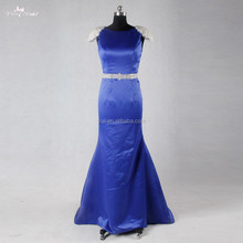 RSE708 Mermaid Prom Dress Bead Embroidered Royal Blue long Evening Dress