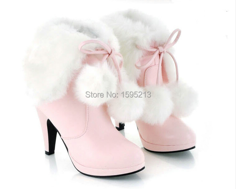 New 2015 winter boots snow boots shoes woman high heel shoes fashion girls student winter Short boot women boots