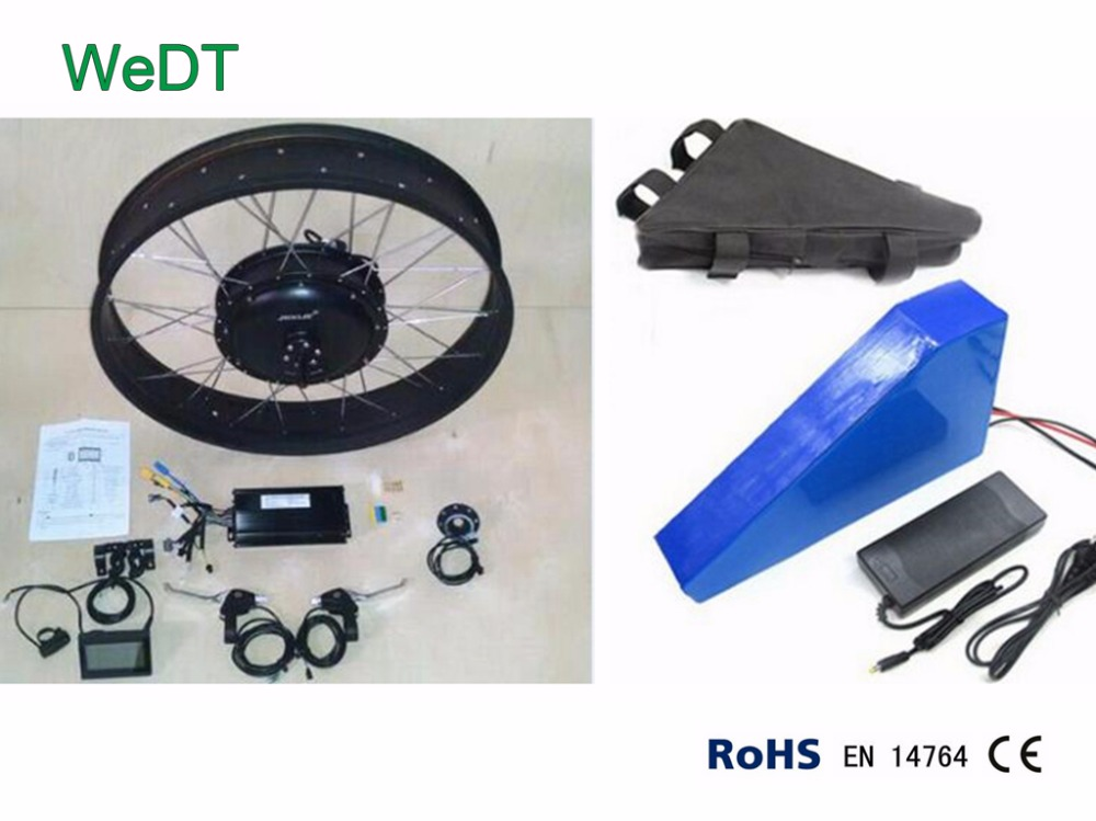 MXUS turbo 3000W hub motor kit with triangle battery pack electric bike conversion kit