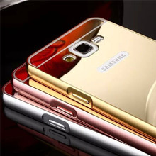 JESOY Luxury Electroplated Metal Mirror Phone Case For Samsung Galaxy J2 2016 Back Cover