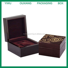 piano red lacquer finish hot sale wooden watch box for sale with laser engrave logo on the top