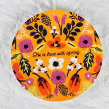 Colorful full flower decal fine bone china personalized china <strong>plate</strong> Vintage / Floral Cake <strong>plate</strong>