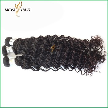 Salon hair Indian raw hair fast delivery hair bulk deep wave Rihanna hair