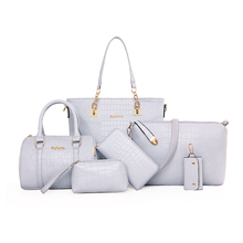 6 Pieces Ladies Wallet Ladies Pars Hand Bags Women Set Handbags