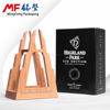 Rubber wood wine boxes wooden semi-closed NC paint color