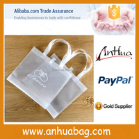 Brief fashion white transparent pvc shopping bag