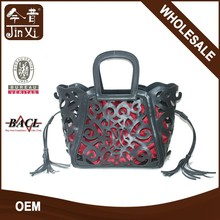 Floral Hollowed Lady PU Handbag