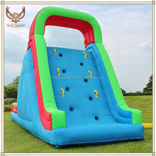 moving rock climbing inflatable pool slide with climbing wall inflatable rock climbing slides