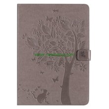 Embossing pattern flip PU leather tablet case cover for iPad Pro 10.5